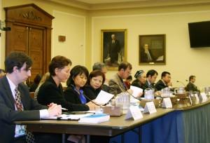 2009年 張菁在國會作證congressional testimony pic 1