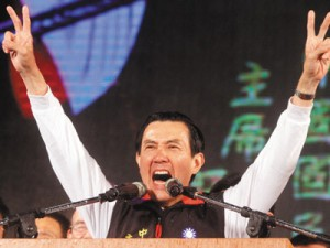 馬英九當選中華民國2012總統。