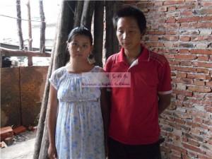 湖北随州周庆庆和丈夫谢鹏也希望能生女孩。