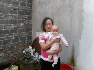 女婴陈苑洁和她的妈妈