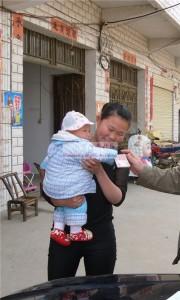 朱涵瑜和她的母亲盛利