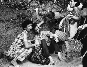 被中共军队枪杀的逃亡者