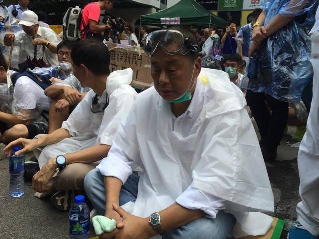 黎智英呼籲港人走出來。翻攝香港獨立媒體網