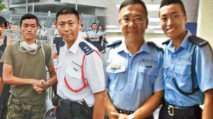男子曾為輔警,而後加入佔中。香港《蘋果日報》提供