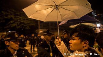 香港特区政府所在地一幕(2014.10.2)