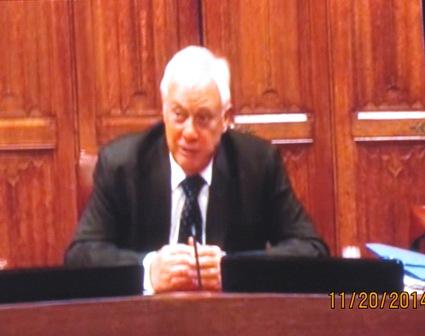 香港末代港督彭定康11月29日在通過視頻連線向美國國會中國委員會作證