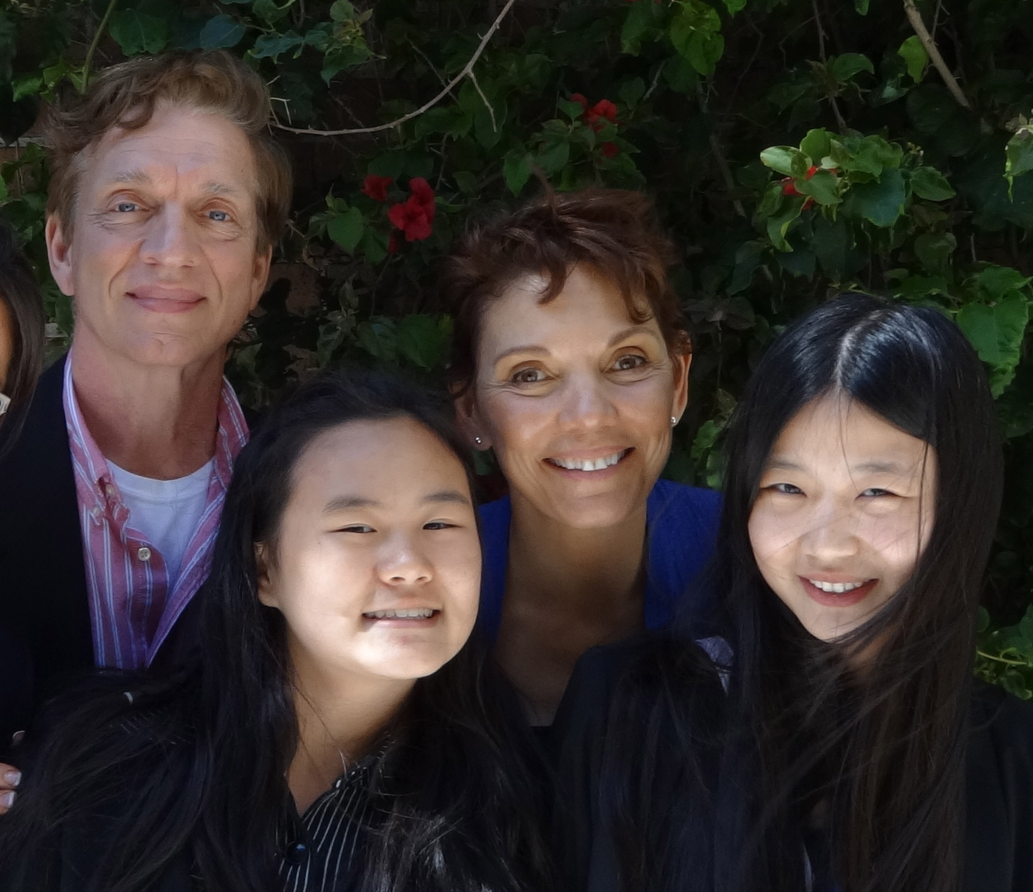Anni and Lily Zhang, with American parents Reggie Littlejohn and husband Robert
