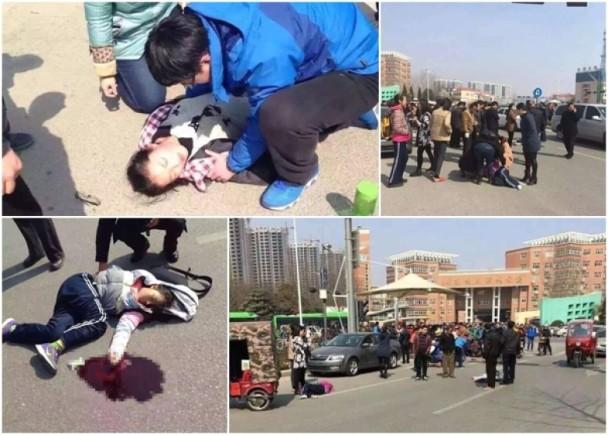 驾车撞学生11死伤