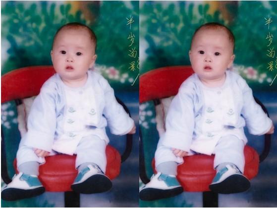 申海月半岁照片